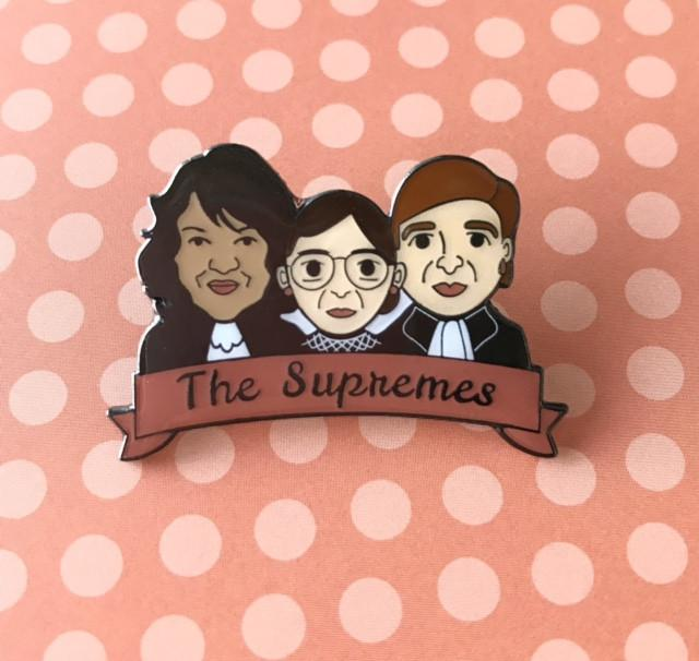 The Supremes: Women of the SCOTUS Sotomayor, Ginsburg & Kagen Enamel Pin