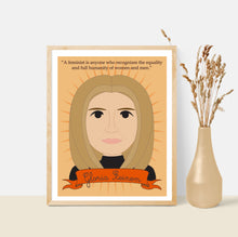 Load image into Gallery viewer, Sheroes Collection: Gloria Steinem 8x10 Art Print