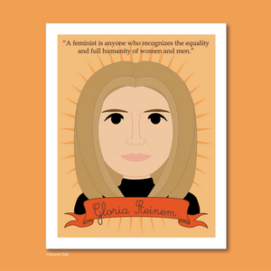 Sheroes Collection: Gloria Steinem 8x10 Art Print