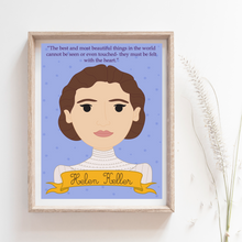Load image into Gallery viewer, Sheroes Collection: Hellen Keller 8x10 Art Print