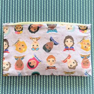 Famous Women in History Sheroes Zipper Pouch
