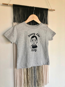 Strong Like RBG Ruth Bader Ginsburg Toddler Unisex Tee
