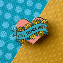 Load image into Gallery viewer, Love Trumps Hate Enamel Pin