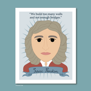 Heroes Collection: Isaac Newton 8x10 Art Print