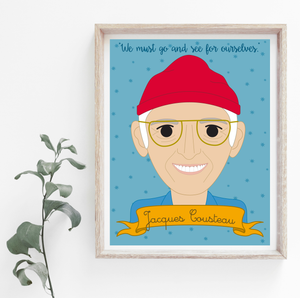 Heroes Collection: Jacques Cousteau 8x10 Art Print