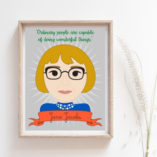 Load image into Gallery viewer, Sheroes Collection: Jane Jacobs 8x10 Art Print