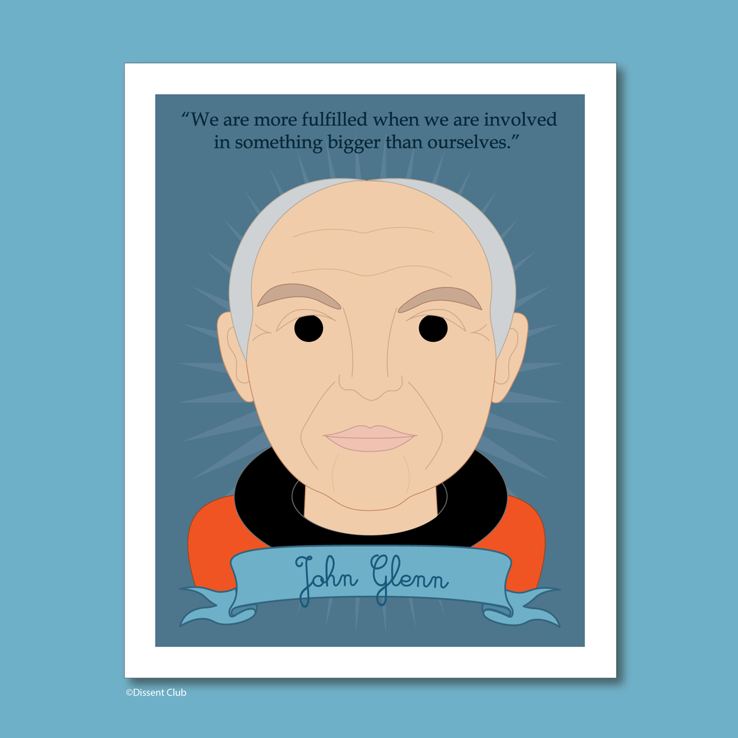 Heroes Collection: John Glenn 8x10 Art Print
