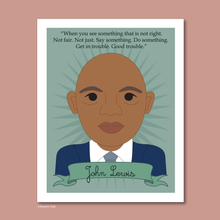 Load image into Gallery viewer, Heroes Collection: John Lewis 8x10 Art Print