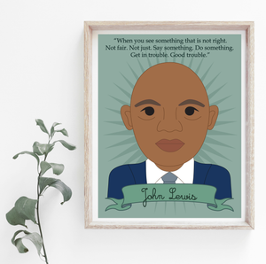 Heroes Collection: John Lewis 8x10 Art Print
