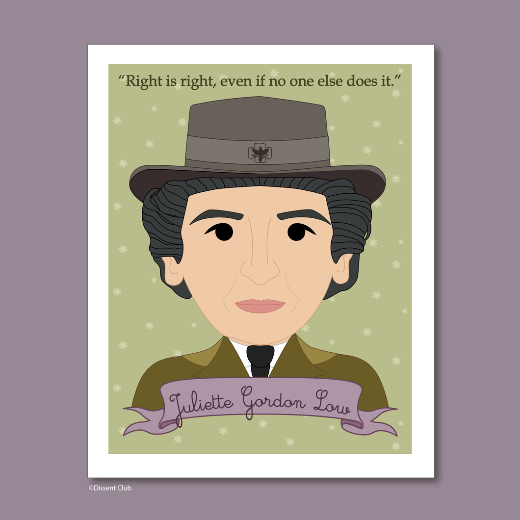 Sheroes Collection: Juliette Gordon Low 8 x10 Art Print
