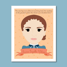 Load image into Gallery viewer, Sheroes Collection: Laura Ingalls Wilder 8x10 Art Print