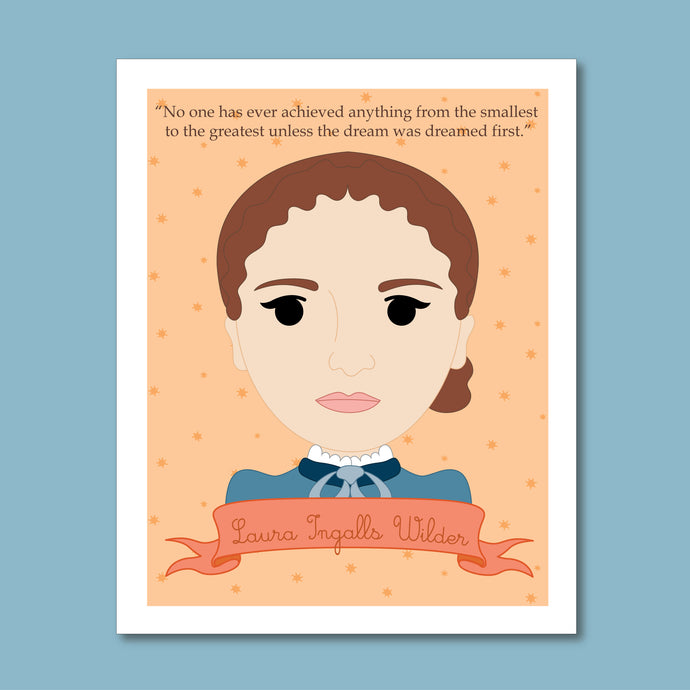 Sheroes Collection: Laura Ingalls Wilder 8x10 Art Print