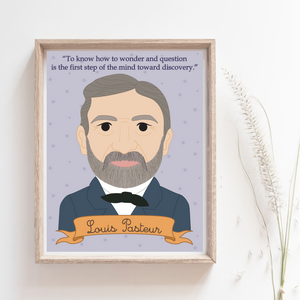 Heroes Collection: Louis Pasteur 8x10 Art Print