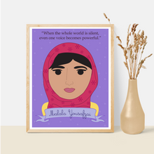 Load image into Gallery viewer, Sheroes Collection: Malala Yousafzai 8x10 Art Print