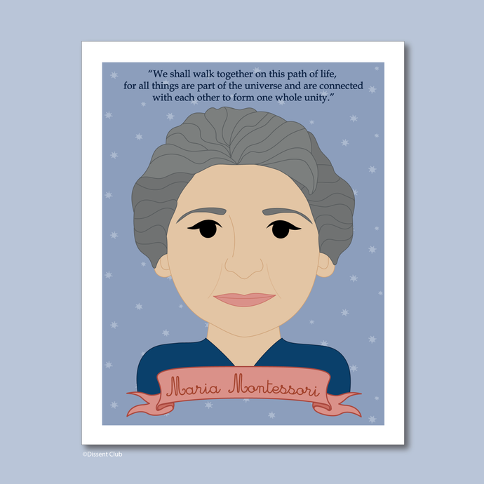 Sheroes Collection: Maria Montessori 8x10 Art Print