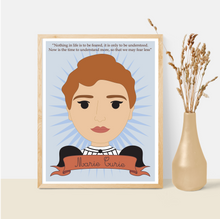 Load image into Gallery viewer, Sheroes Collection: Marie Curie 8x10 Art Print