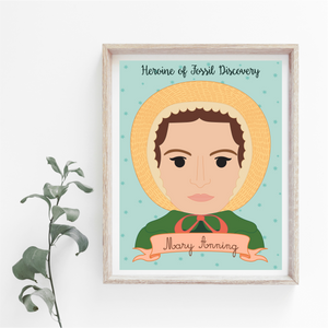 Sheroes Collection: Mary Anning 8x10 Art Print