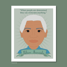 Load image into Gallery viewer, Heroes Print: Nelson Mandela 8x10 Art Print
