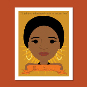 Sheroes Collection: Nina Simone 8x10 Art Print