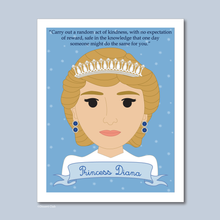 Load image into Gallery viewer, Sheroes Collection: Princess Diana 8x10 Art Print