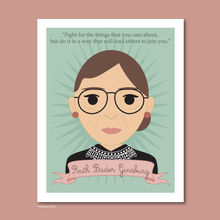 Load image into Gallery viewer, Sheroes Collection: Ruth Bader Ginsburg 8x10 Art Print