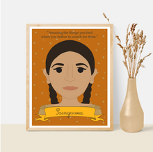 Load image into Gallery viewer, Sheroes Collection: Sacagawea 8x10 Art Print