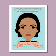 Load image into Gallery viewer, Sheroes Collection: Coretta Scott King 8x10 Art Print