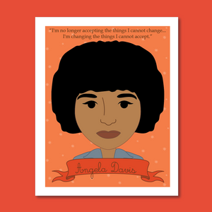 Sheroes Collection: Angela Davis 8x10 Art Print