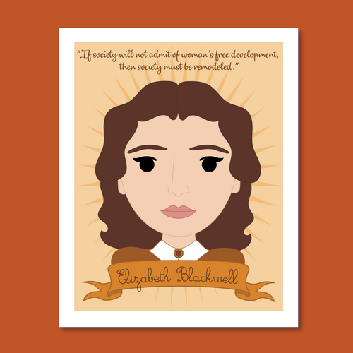 Sheroes Collection Women in History: Elizabeth Blackwell 8x10 Art Print
