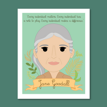Load image into Gallery viewer, Sheroes Collection: Jane Goodall 8x10 Art Print