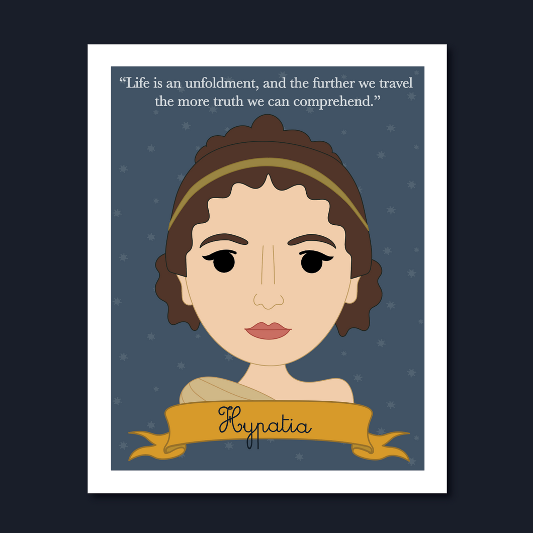 Sheroes Collection: Hypatia 8x10 Art Print