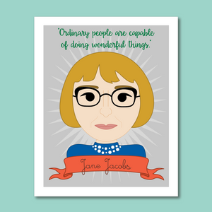 Sheroes Collection: Jane Jacobs 8x10 Art Print