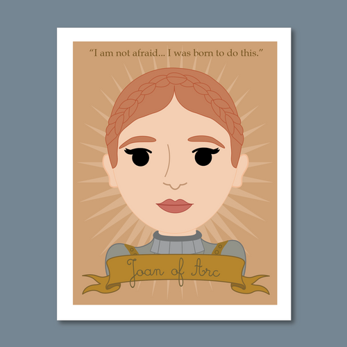 Sheroes Collection: Joan of Arc 8x10 Art Print