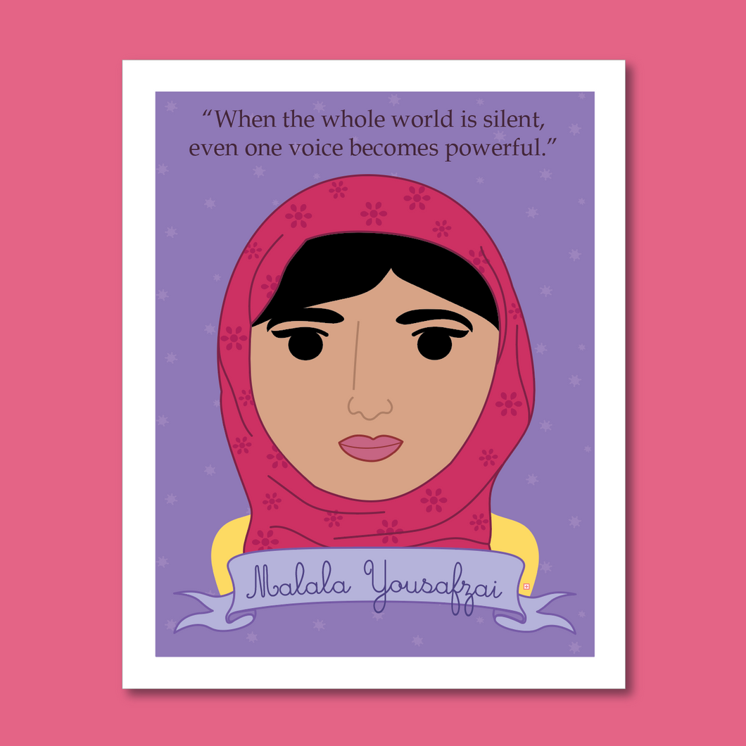 Sheroes Collection: Malala Yousafzai 8x10 Art Print