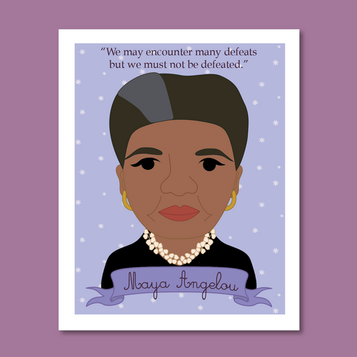 Sheroes Collection: Maya Angelou 8x10 Art Print