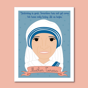 Sheroes Collection: Mother Teresa 8x10 Art Print