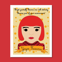 Load image into Gallery viewer, Sheroes Collection: Yayoi Kusama 8x10 Art Print