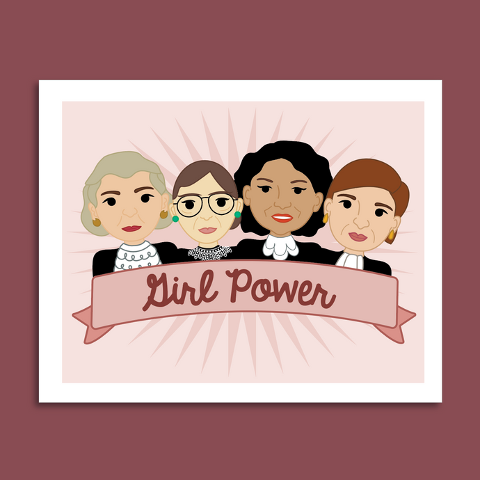 Girl Power Ladies of the Supreme Court 8x10 Art Print