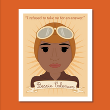 Load image into Gallery viewer, Sheroes Collection: Bessie Coleman 8x10 Art Print