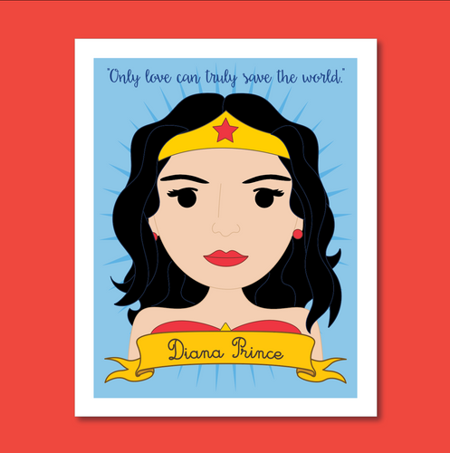Sheroes Collection: Wonder Woman / Diana Prince 8x10 Art Print