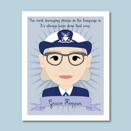 Sheroes Collection: Grace Hopper 8x10 Art Print