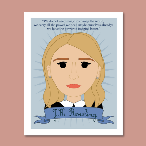 Sheroes Collection: J.K. Rowling 8x10 Art Print