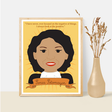 Load image into Gallery viewer, Sheroes Collection: Sonia Sotomayor 8x10 Art Print