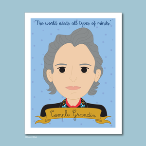 Sheroes Collection: Temple Grandin 8x10 Art Print