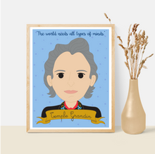 Load image into Gallery viewer, Sheroes Collection: Temple Grandin 8x10 Art Print