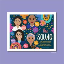 "Load image into Gallery viewer, Women of ""The Squad"": Ocasio-Cortez, Omar, Pressley & Tlaib 8x10 Art Print"