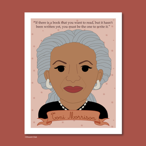 Sheroes Collection: Toni Morrison 8x10 Art Print