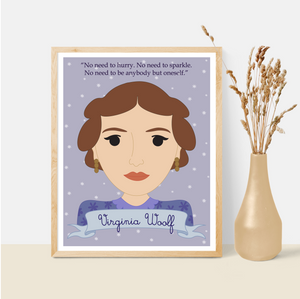 Sheroes Collection: Virginia Woolf 8x10 Art Print