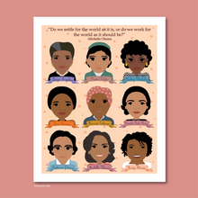 Load image into Gallery viewer, Sheroes Collection: Famous Women in Black History 8x10 Art Print