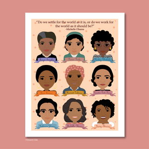 Sheroes Collection: Famous Women in Black History 8x10 Art Print